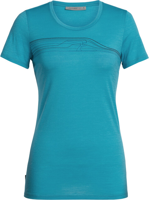 Icebreaker Tech Lite Snow Speedster T shirt Damer, arctic teal